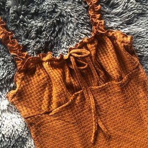 New! Burnt Sienna Mini Dress XS